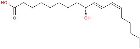 10,12 octadecadienoic acid, 9 hydroxy , (9r,10e,12z)