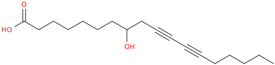 10,12 octadecadiynoic acid, 8 hydroxy