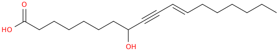 11 octadecen 9 ynoic acid, 8 hydroxy , (11e)