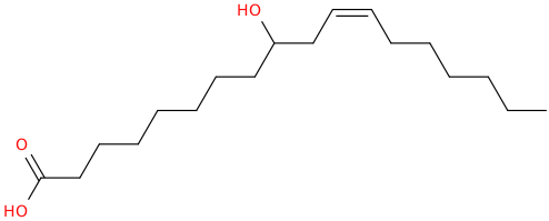 11 octadecenoic acid, 9 hydroxy , (11z)