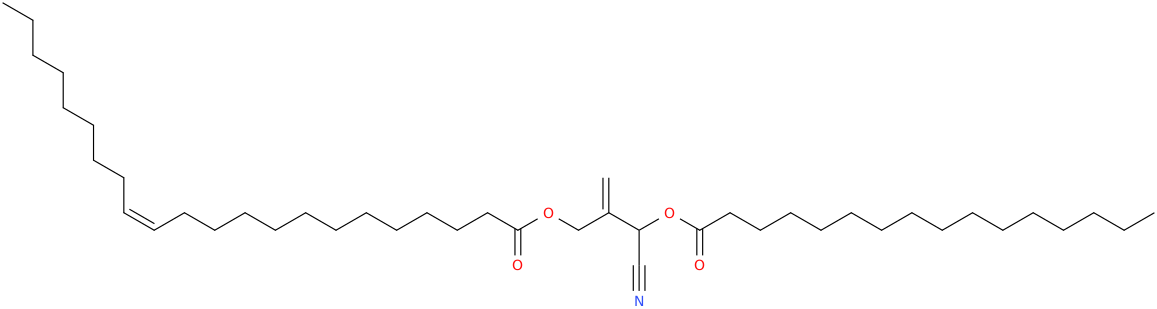 2 [cyano [hexadecanoyl]oxymethyl]prop 2 enyl docos 13z enoate