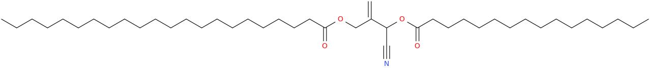2 [cyano [hexadecanoyl]oxymethyl]prop 2 enyl docosanoate