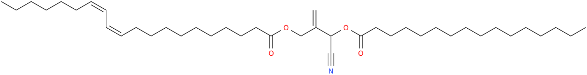 2 [cyano [hexadecanoyl]oxymethyl]prop 2 enyl eicos 11z,13z dienoate