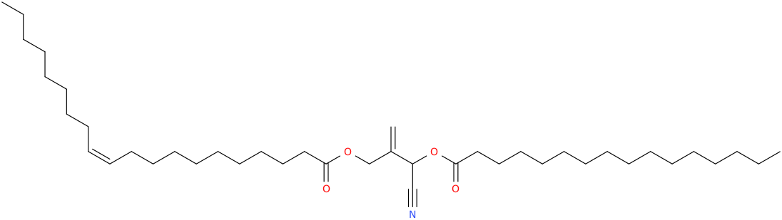 2 [cyano [hexadecanoyl]oxymethyl]prop 2 enyl eicos 11z enoate