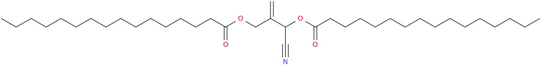 2 [cyano [hexadecanoyl]oxymethyl]prop 2 enyl hexadecanoate