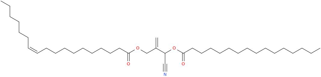 2 [cyano [hexadecanoyl]oxymethyl]prop 2 enyl octadec 11z enoate