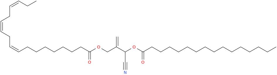 2 [cyano [hexadecanoyl]oxymethyl]prop 2 enyl octadec 9z,12z,15z trienoate