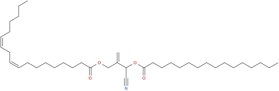 2 [cyano [hexadecanoyl]oxymethyl]prop 2 enyl octadec 9z,12z dienoate