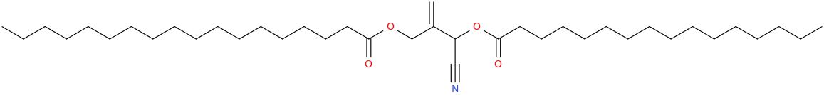 2 [cyano [hexadecanoyl]oxymethyl]prop 2 enyl octadecanoate