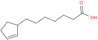 2 cyclopentene 1 heptanoic acid