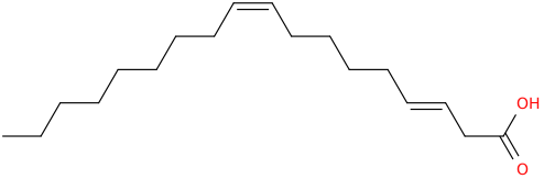 3,9 octadecadienoic acid, (e,z)