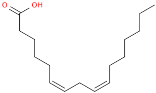 6,9 hexadecadienoic acid, (6z,9z)