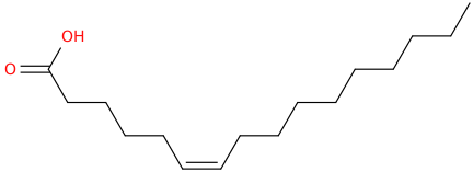 6 hexadecenoic acid, (6z)