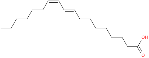 9,11 octadecadienoic acid, (9e,11z)