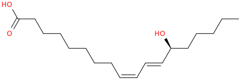 9,11 octadecadienoic acid, 13 hydroxy , (9z,11e,13s)