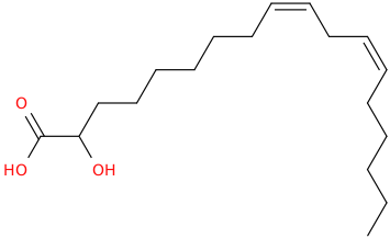 9,12 octadecadienoic acid, 2 hydroxy , (9z,12z)