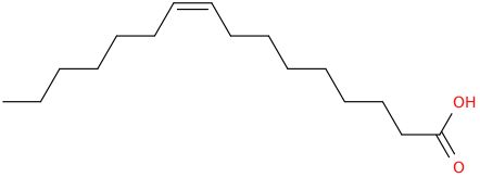 9 hexadecenoic acid, (9z)