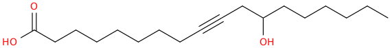 9 octadecynoic acid, 12 hydroxy