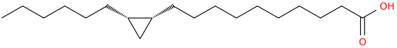 Cyclopropanedecanoic acid, 2 hexyl , (1r,2s)